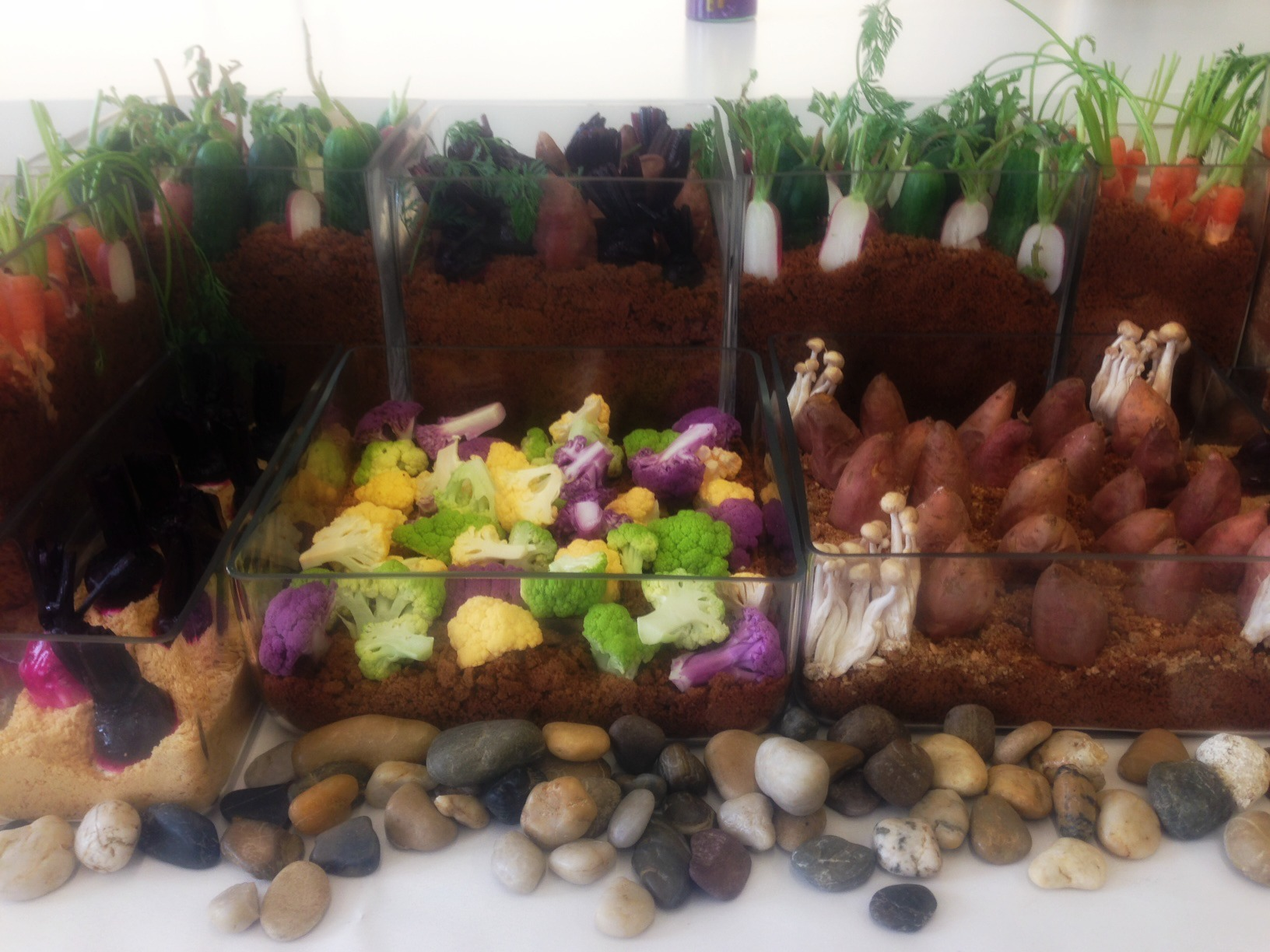 An edible garden, even the dirt - Catering by W&W