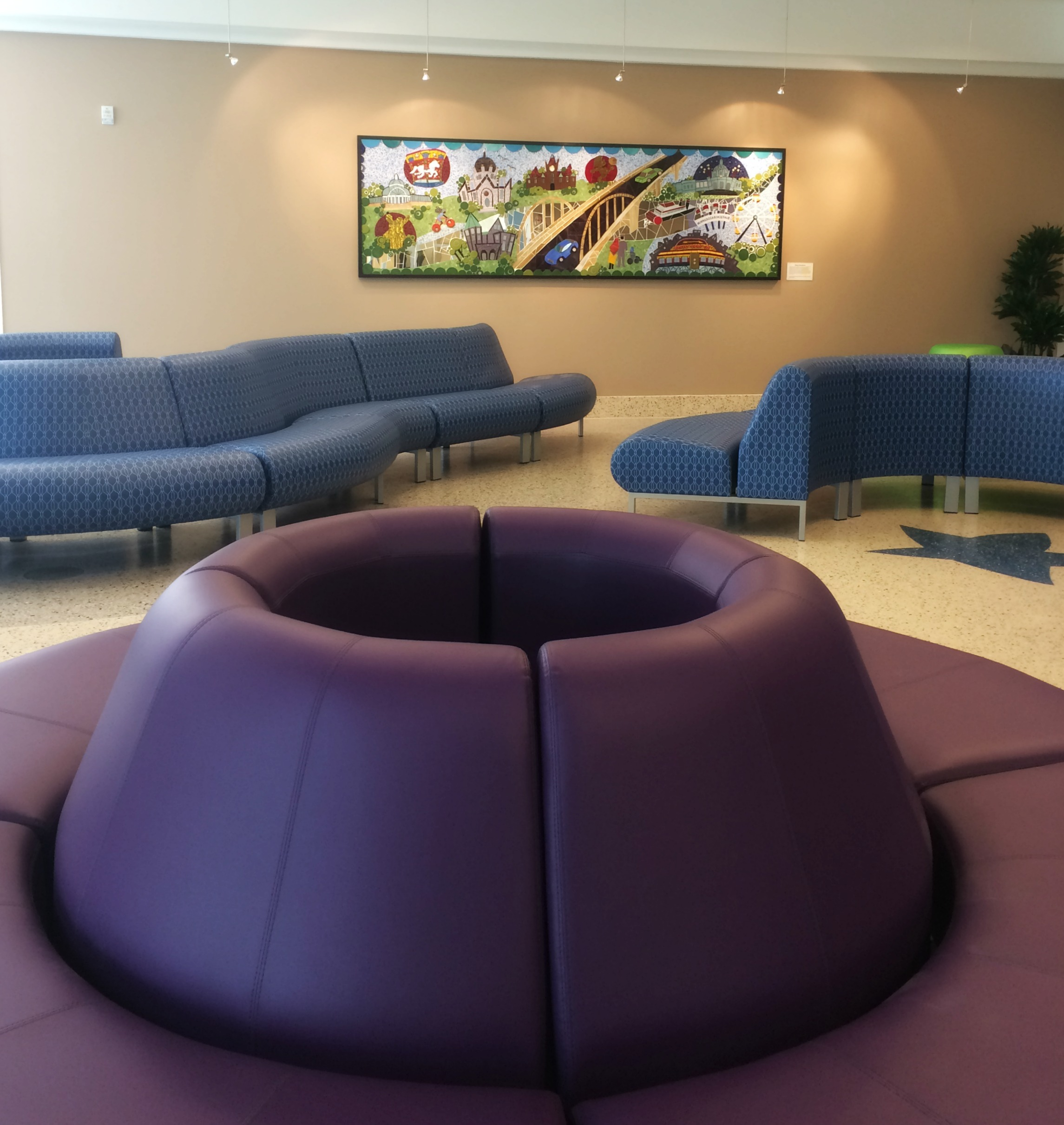 Radius Seating by Davis Furniture, at Children's Hospital and Clinics of Minnesota,